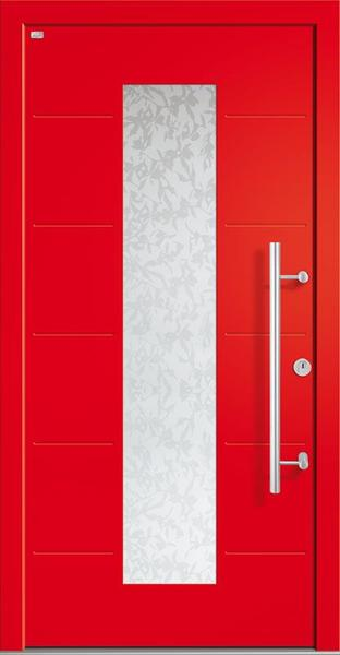 Holz-Alu-Haustür – Rot