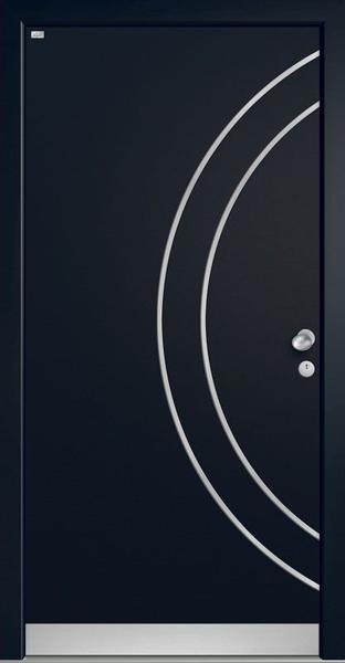 Holz-Alu-Haustür – schwarz