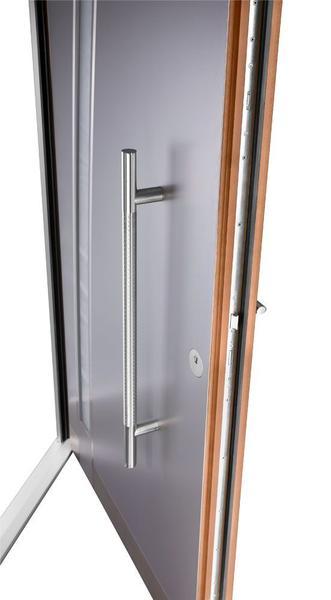 Holz-Alu-Haustür – Grau